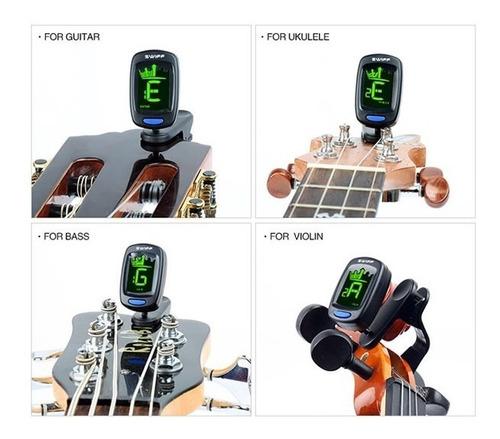afinador digital clip para guitarra bajos violin ukelele