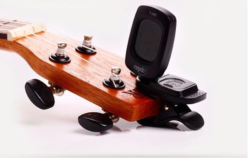 afinador digital cromático clip para guitarra,ukulele, bajo.