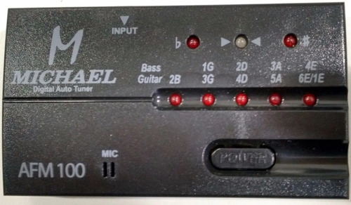afinador digital michael chromatic tuner afm-100