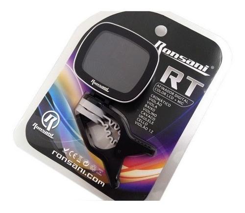 afinador digital ronsani rt-pro com display colorido lcd