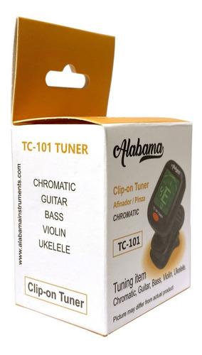 afinador tipo clip pinza para guitarra violín alabama tc-101 - oddity music