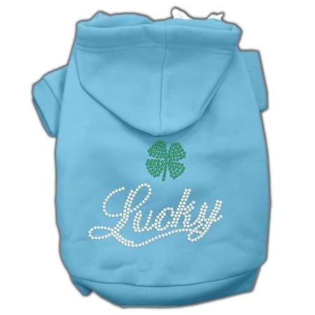 afortunado diamante de imitación hoodies bebé azul xs (8)