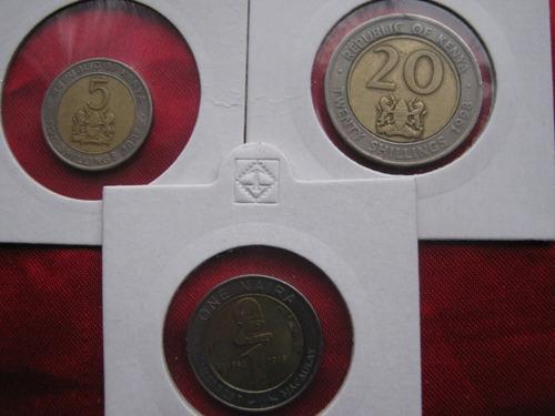 africa 3 monedas bimetal diferentes
