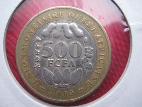 africa del oeste 500 francos 2003