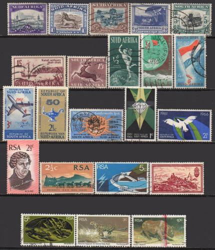 áfrica do sul - 1930-1976 - lote 22 selos diversos