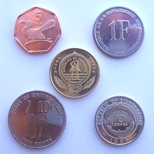 africa - lote 5 monedas surtidas ¡ nuevas - sin circular !