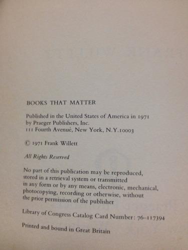 african art - frank willett - praeger publishers - 1971