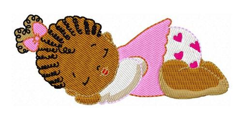 african baby - coleção de matriz de bordado