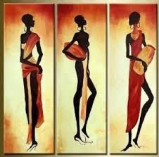africanas, negritas, mulatas....pintados a mano.texturas y r