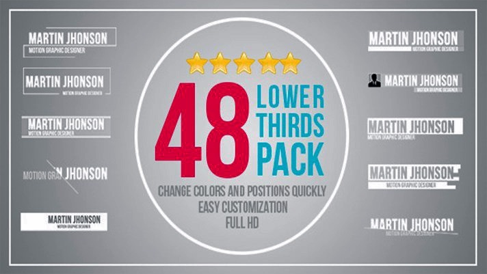 After Effects 12725841 48 Templates Lower Thirds Pack R 9 99