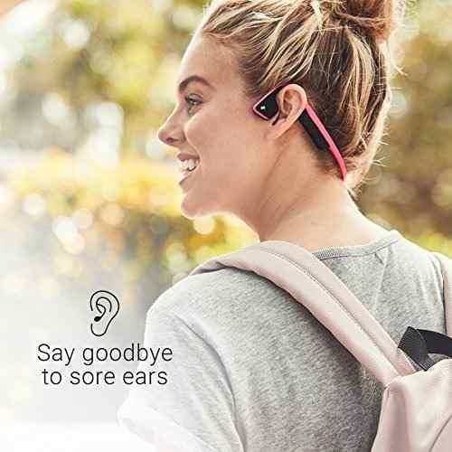 aftershokz trekz - auriculares inalámbricos de titanio con b