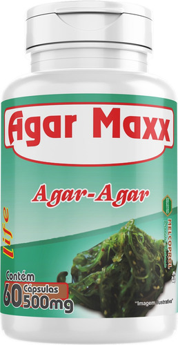 ágar- ágar 500mg 60 cápsulas ágar maxx 8unidades- melcoprol
