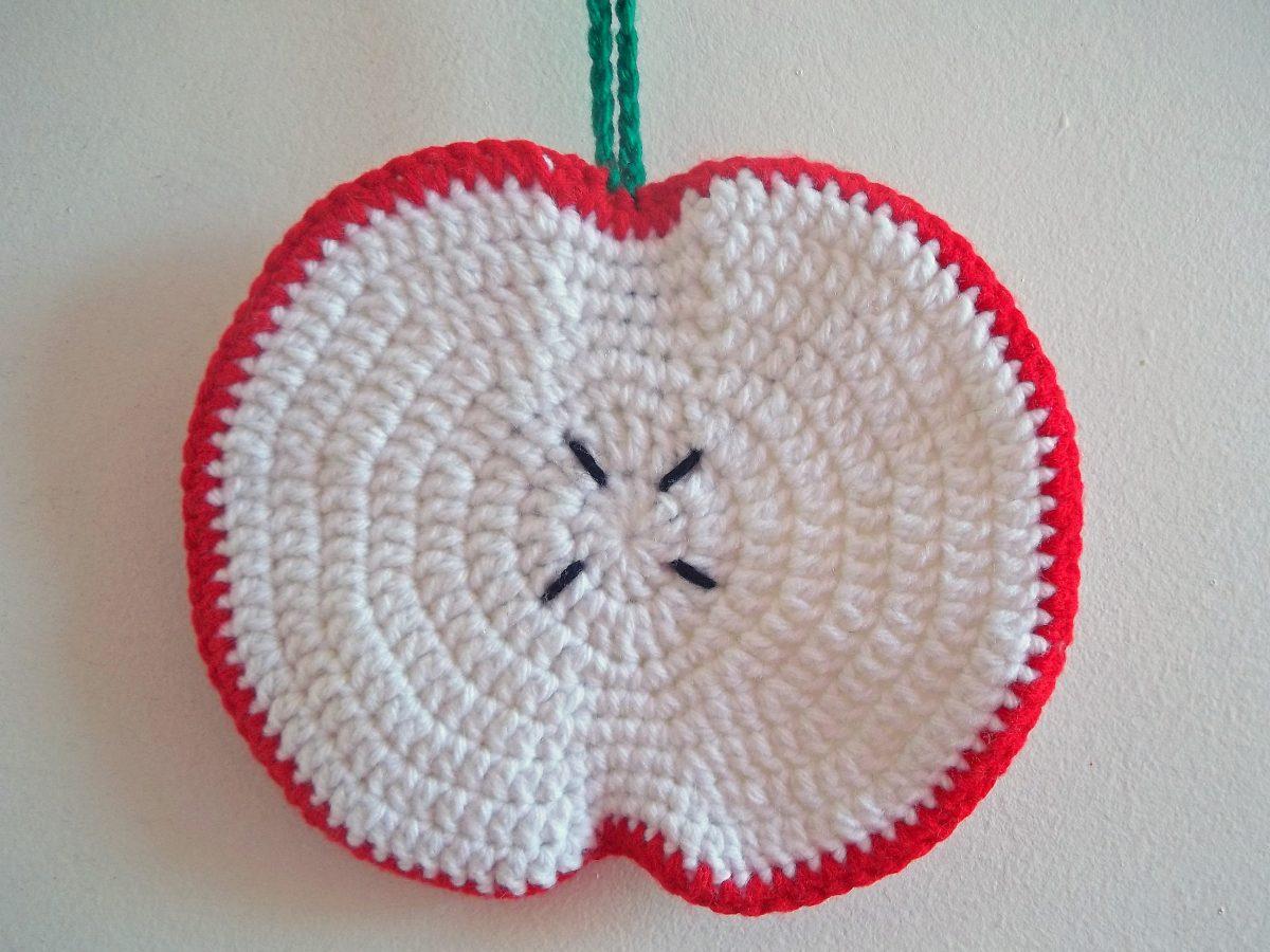 Agarradera Apoya Pava Manzana Crochet Cocina Decoración - $ 60,00 en ...