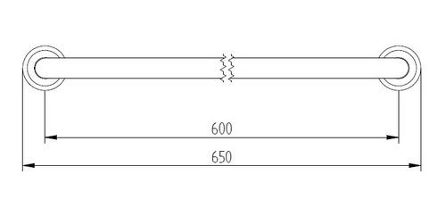 agarradera de 45 cm robinet terminación oxido