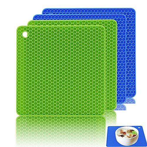 agarraderas,soportes de silicona de 4, ankway trivet mat..