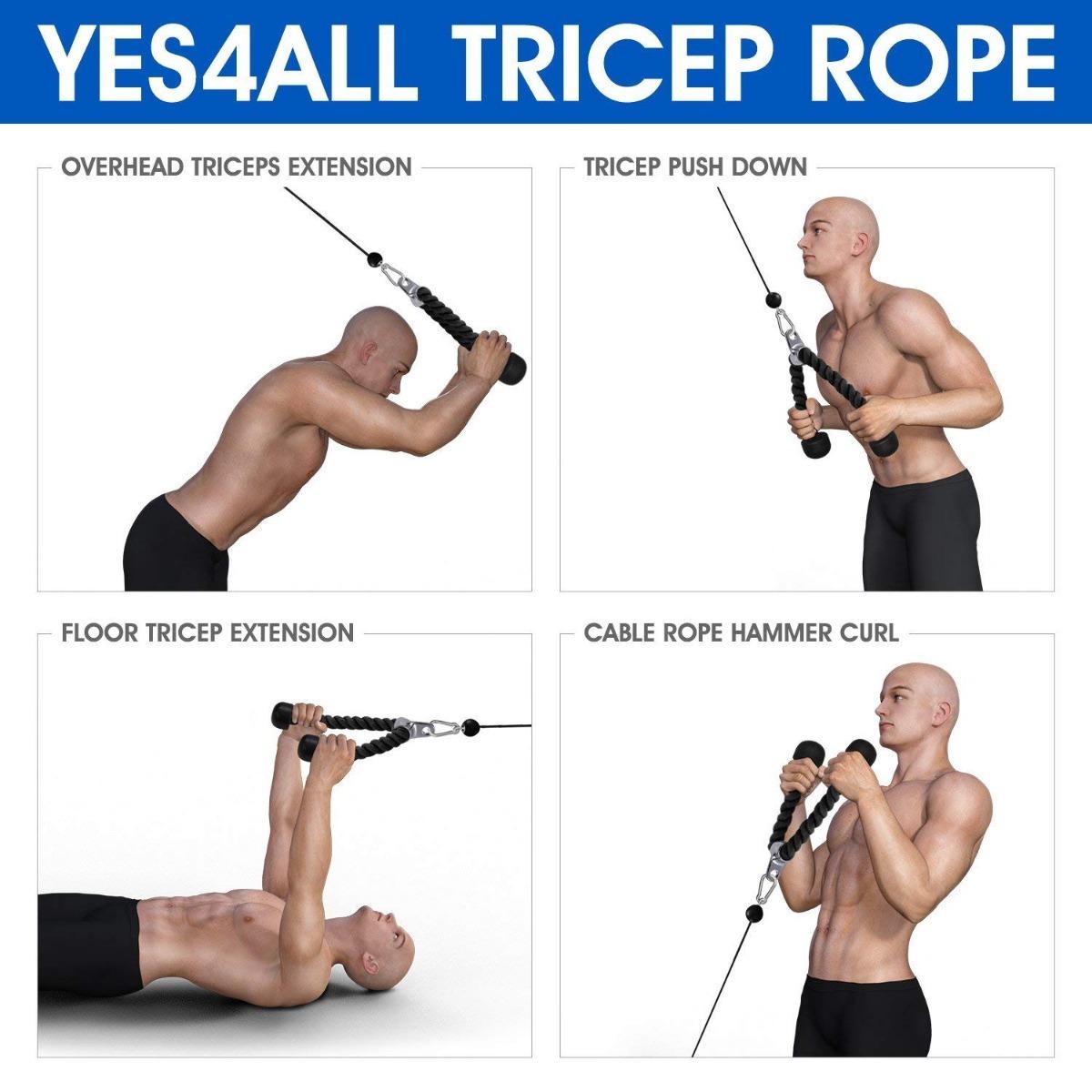 Agarre Para Triceps Rope - $ 349.00 en Mercado Libre