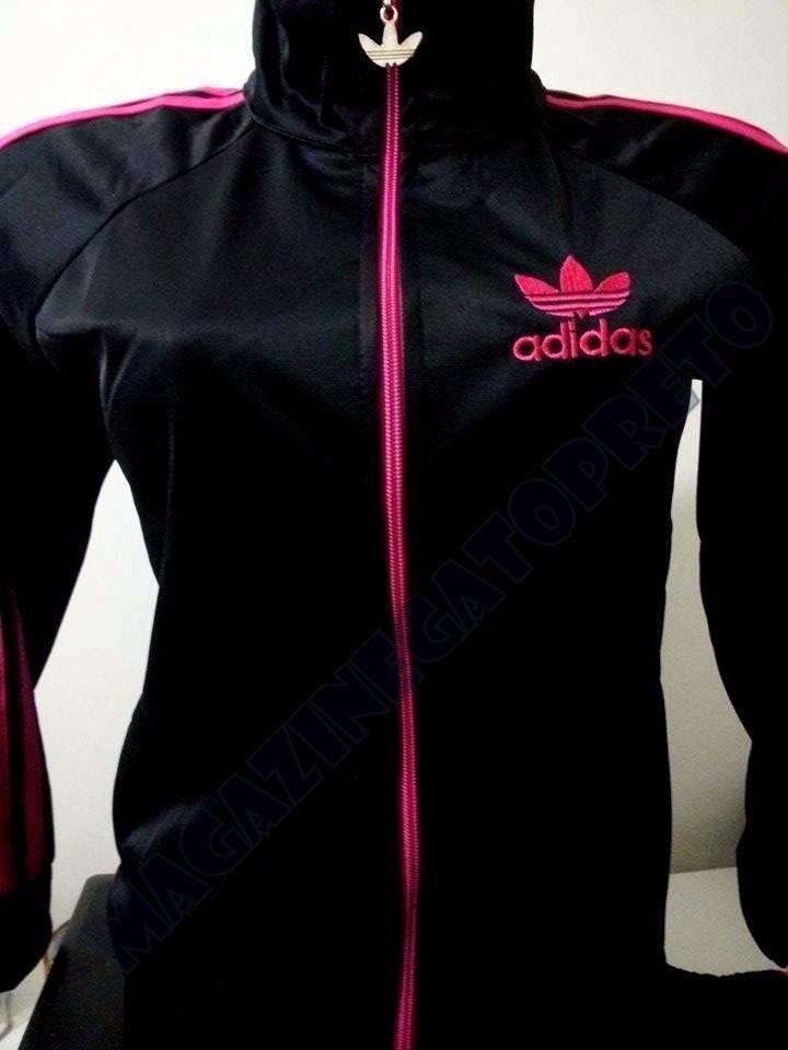 bf97989aa03 jaqueta adidas preta e rosa