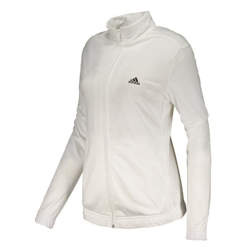 agasalho adidas essentials feminino branco. Carregando zoom. 061b5963fdbf8