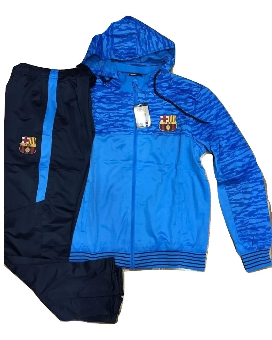 f9f51272b1 agasalho barcelona azul blusa com capuz e calça time frete. Carregando zoom.