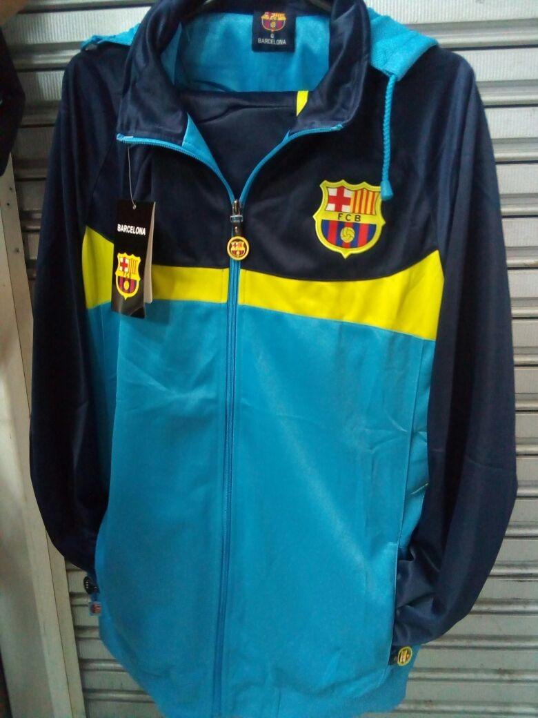 ba850538f3626 Agasalho Barcelona Azul Time Blusa E Calça - R  248