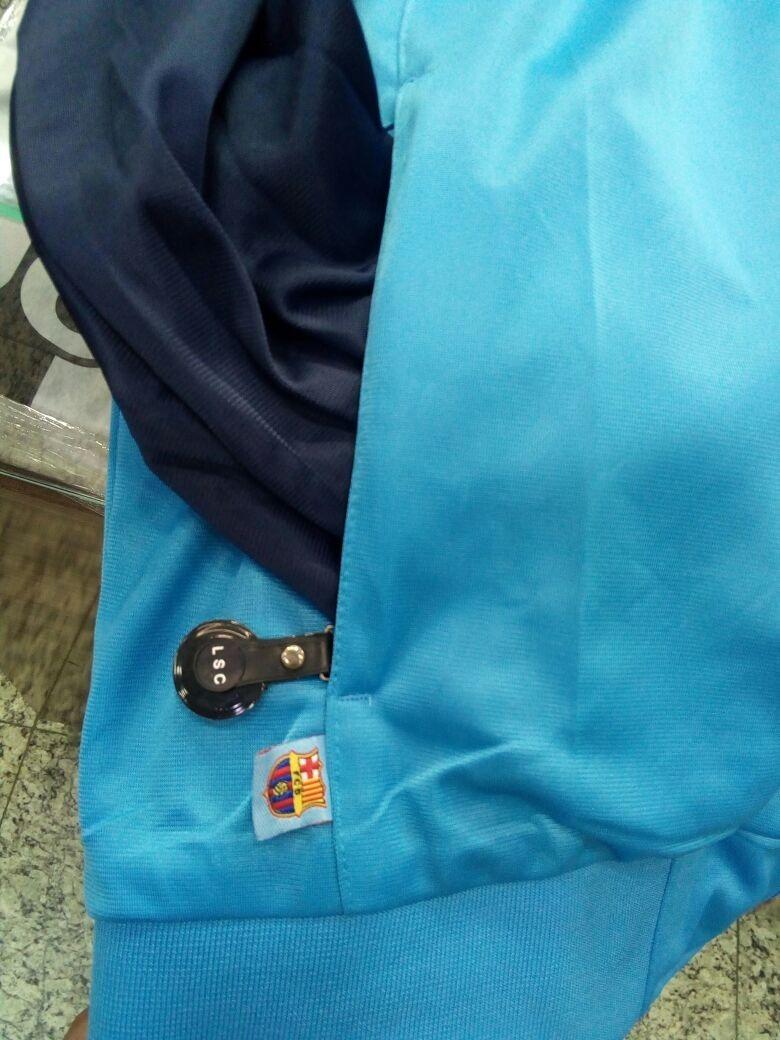 7a9665cf3677d agasalho barcelona azul time blusa e calça. 10 Fotos
