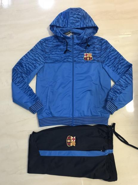 10b93bf9a4794 Agasalho Conjunto Barcelona Azul Calça E Blusa Novo - R  189