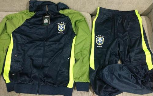 0ee4456b6 Agasalho Conjunto Brasil Copa 2018 Oficial Hexa Blusa Calça - R  215 ...