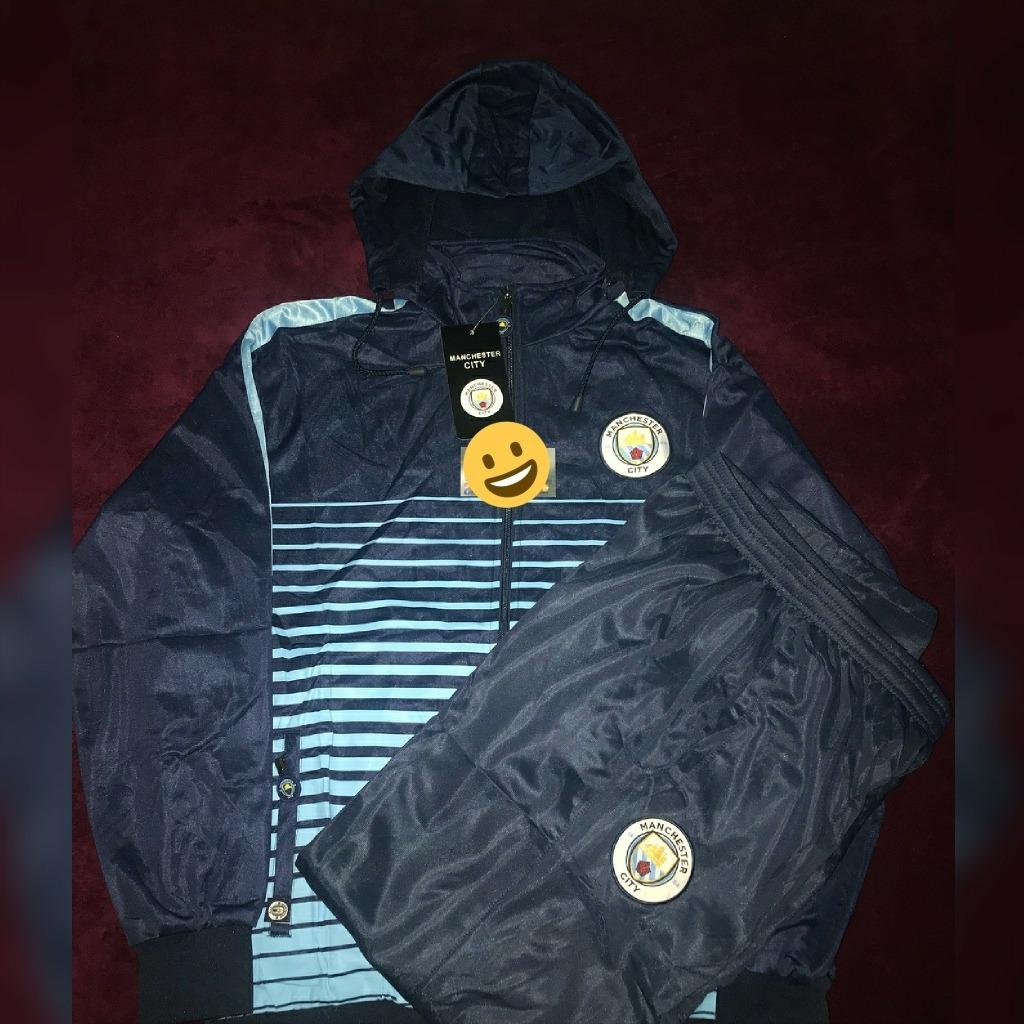 ... c455fc0467a agasalho conjunto calça blusa frio time manchester city. Carregando  zoom. c1a7f3822ba47