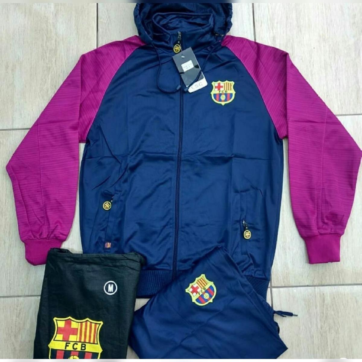 87d60e48b9e81 agasalho conjunto calça blusa frio toca bolso time barcelona. Carregando  zoom.