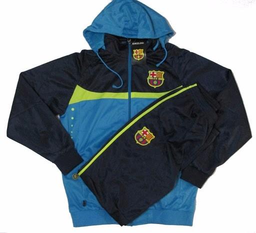 Agasalho Conjunto Do Barcelona Blusa E Calça Futebol Frete - R  184 ... 8b3ea72da8d96