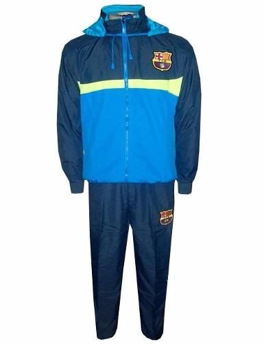 606470e043547 Agasalho Conjunto Do Barcelona Blusa E Calça Futebol Frete - R  184 ...