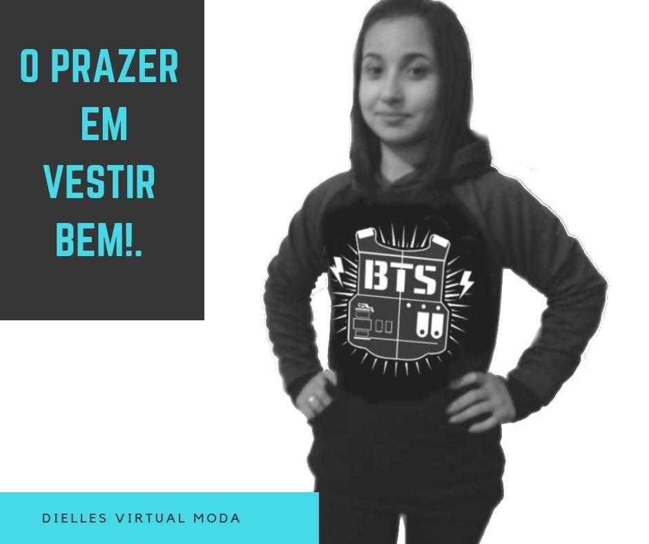 047cc7bd575 Agasalho De Frio Moletom Banda Bts Blusa Blusão Promoção - R  648