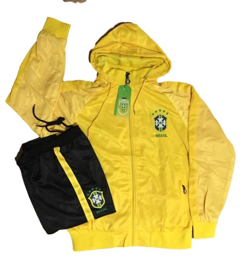 Agasalho Do Brasil Seleção Brasileira Blusa E Calça Casaco - R  189 ... 9fb79da91d11d