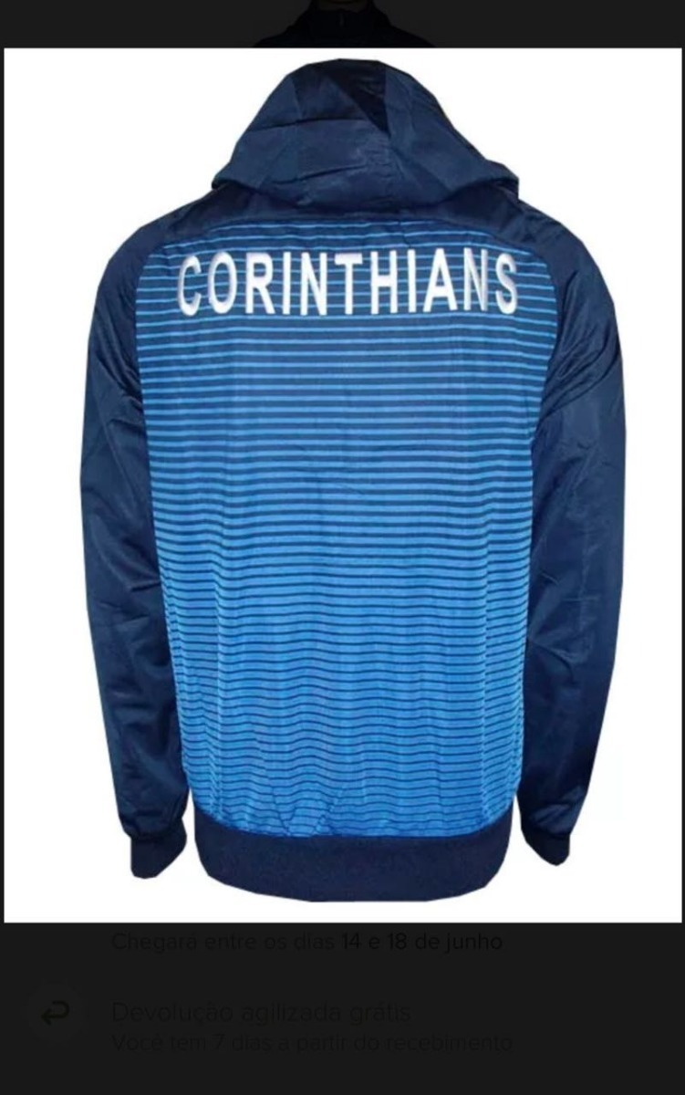 agasalho do corinthians conjunto completo calça e jaqueta. Carregando zoom. 430e072e5f117
