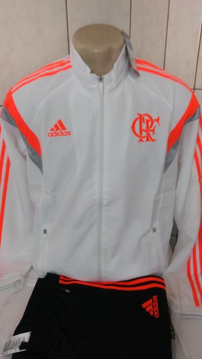 baf5094cab Agasalho Do C.r. Flamengo Viagem Performance Branco - R$ 259,00 em ...