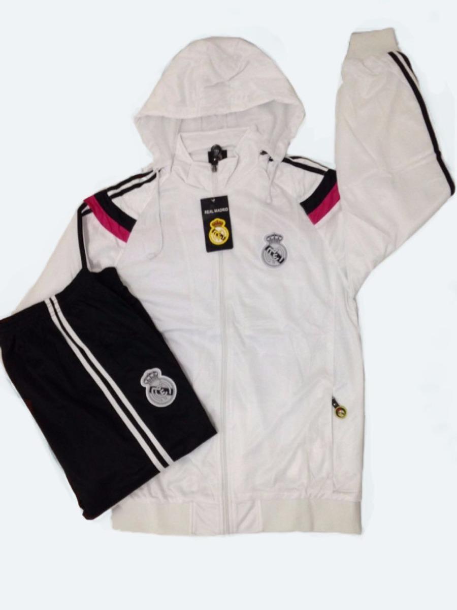 Agasalho Do Real Madrid Conjunto Uniforme Blusa E Calça Time - R ... d00ba397364ee
