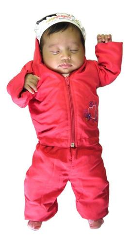 agasalho - jaqueta e calça bebê com forro de malha