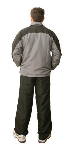 agasalho masculino - jaqueta e calça forrados frete grátis