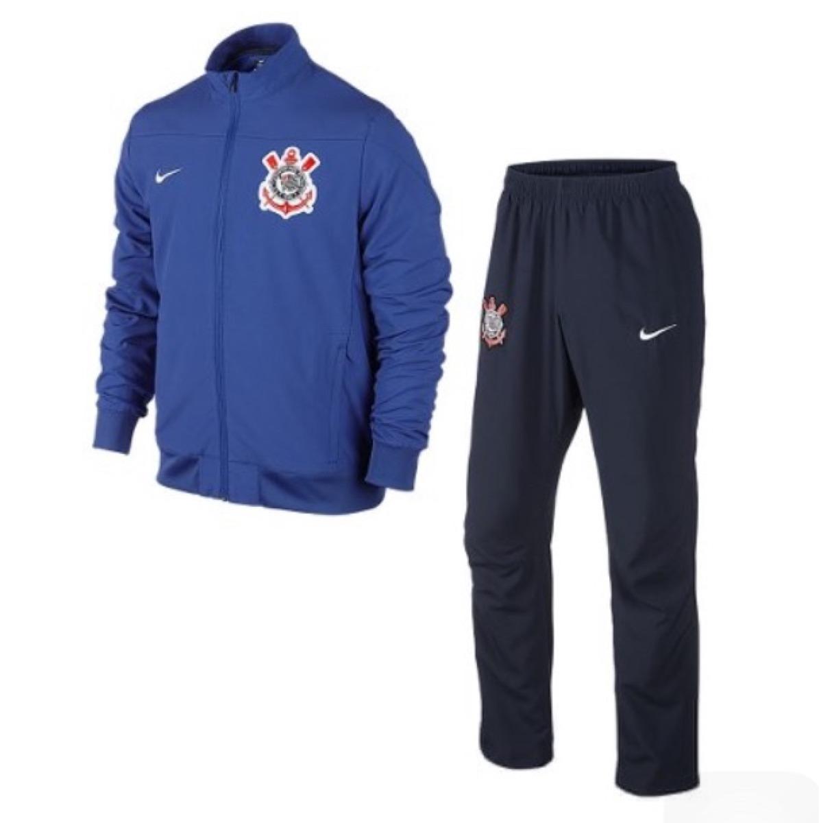 Agasalho Nike Corinthians Azul preto G Baixou!!! - R  259 a8f785d103e79