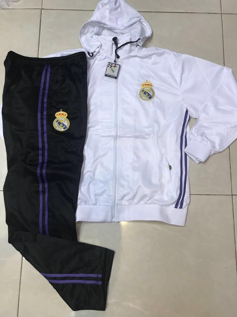 c3319a1151 agasalho real madrid branco calça preta 2018. Carregando zoom.
