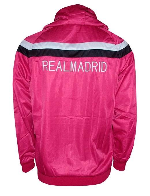 Agasalho Real Madrid Pink E Preto Nylon - R  179 6f17dcff9f299