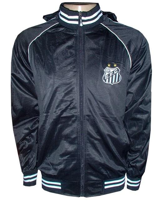 0ac617249b Agasalho Santos Futebol Clube Preto E Branco Nylon - R  207