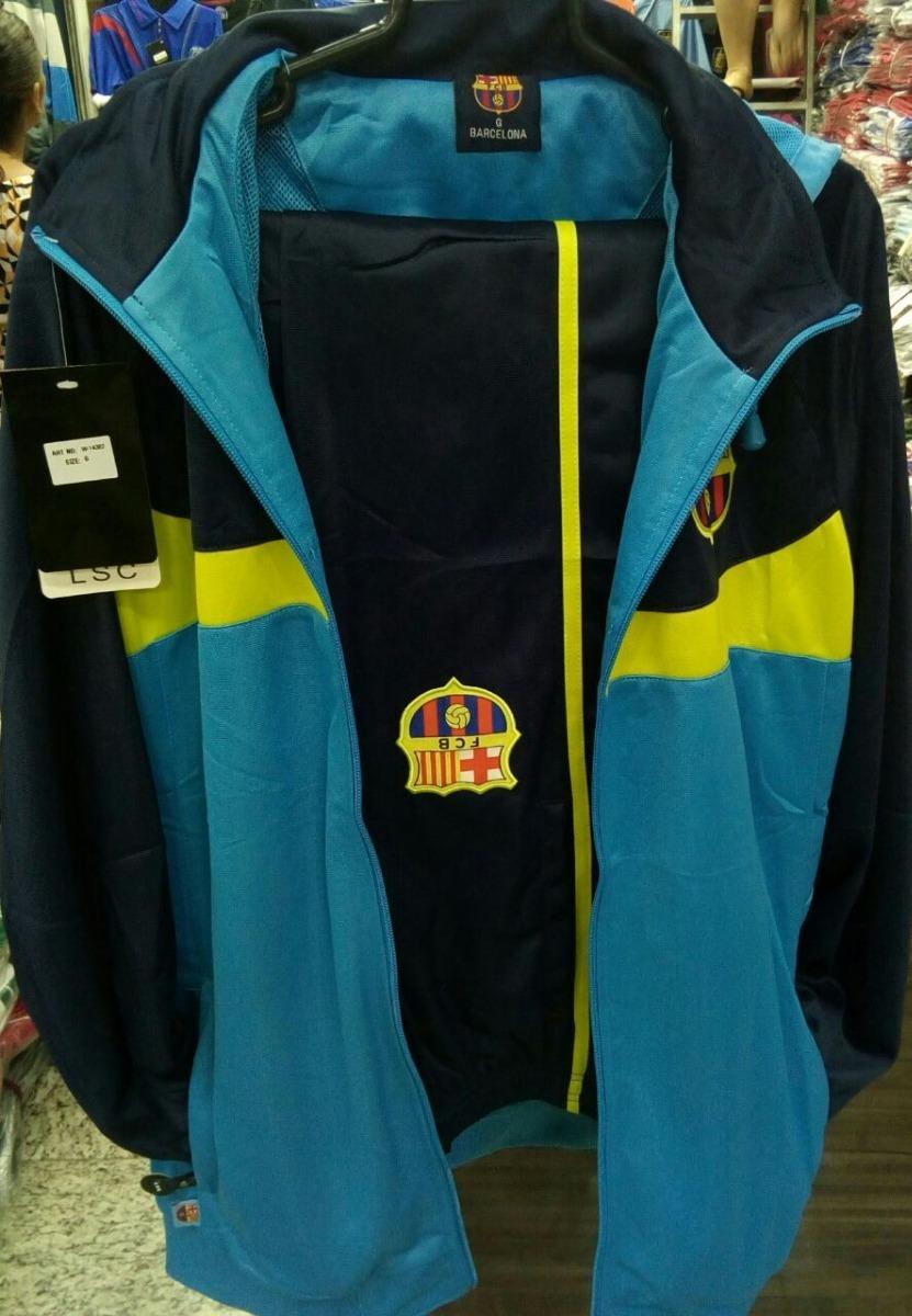 3454c2bf11 agasalho time barcelona blusa calça azul frete gratis. Carregando zoom.