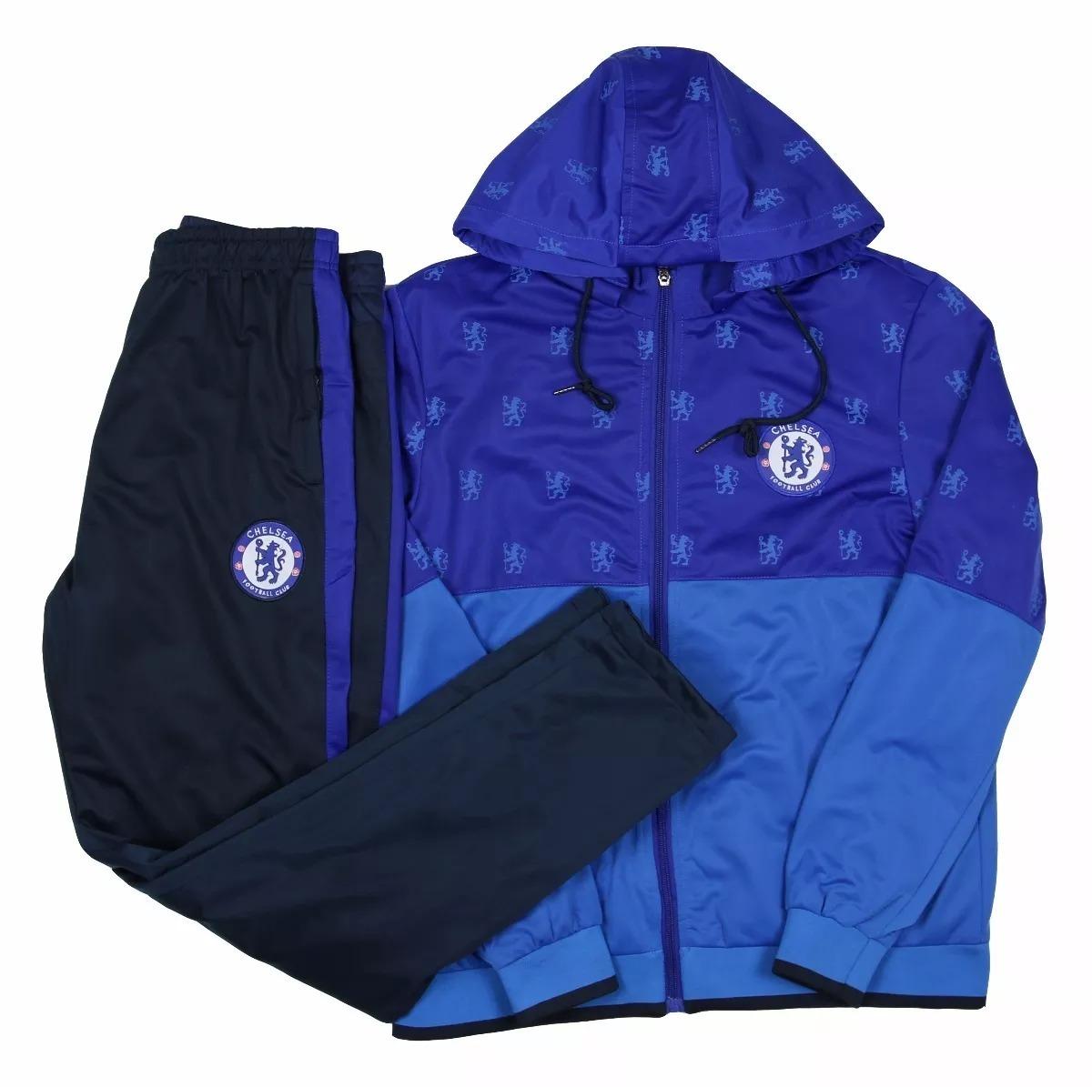 Agasalho Do Chelsea Conjunto Blusa Calça Time Futebol Frio - R  199 ... 12ddda7e82c97