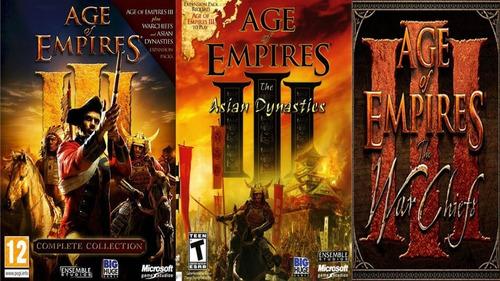 age of empire saga completa original 1,2,3 juego pc oferta
