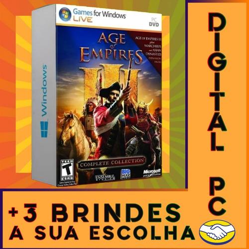 age of empires 3 completo pc digital +3 jogos brindes