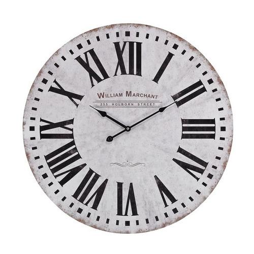 aged white wall reloj