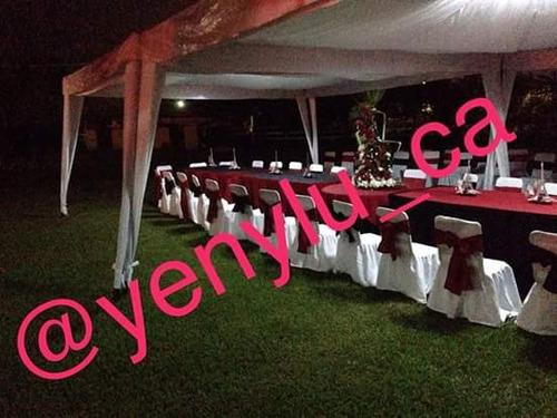 agencia de festejos; alquiler de toldos mesas sillas sonido