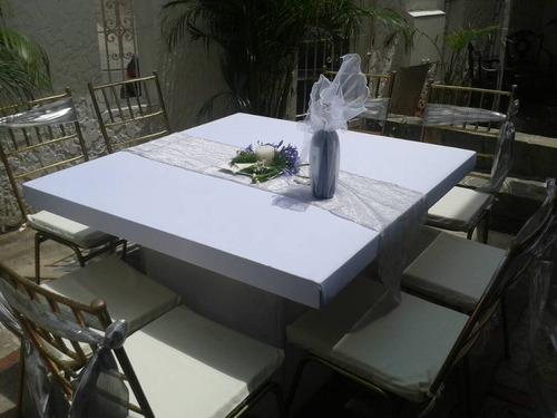 agencia de festejos, sillas, mesas, toldos, tarima, sonido
