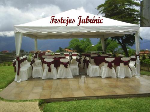 agencia de festejos sillas tiffanys, mesas, toldos, cavas.